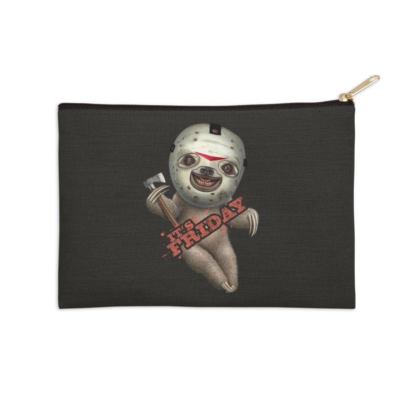 IT'S FRIDAY SLOTH Accessories Zip Pouch by gallerianarniaz's Artist Shop