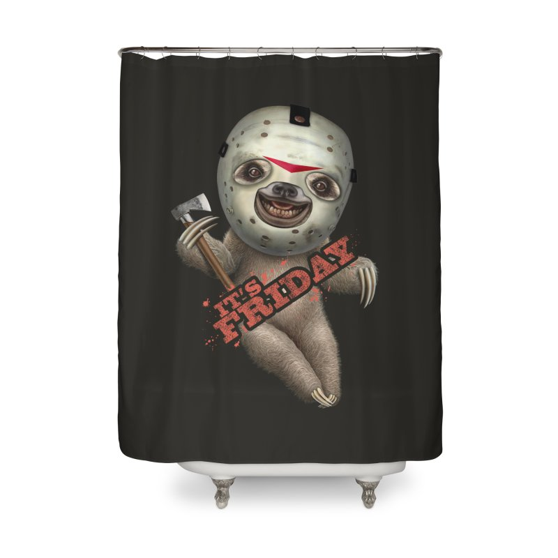 IT'S FRIDAY SLOTH Home Shower Curtain by gallerianarniaz's Artist Shop