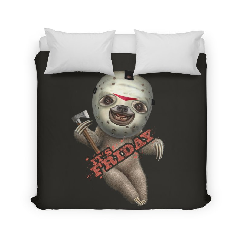 IT'S FRIDAY SLOTH Home Duvet by gallerianarniaz's Artist Shop