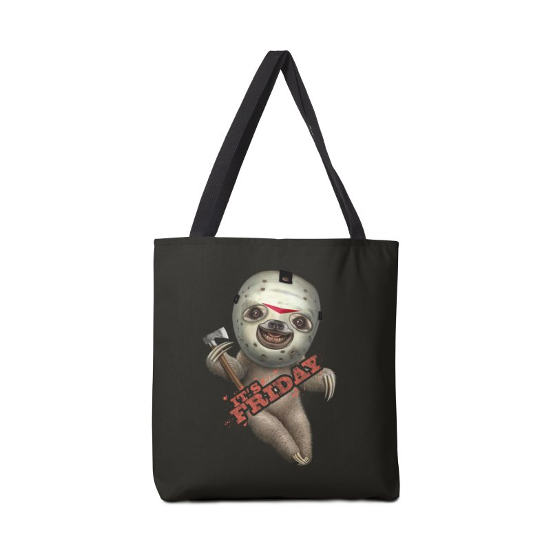 IT'S FRIDAY SLOTH Accessories Bag by gallerianarniaz's Artist Shop