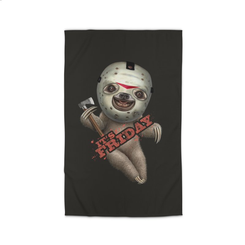 IT'S FRIDAY SLOTH Home Rug by gallerianarniaz's Artist Shop
