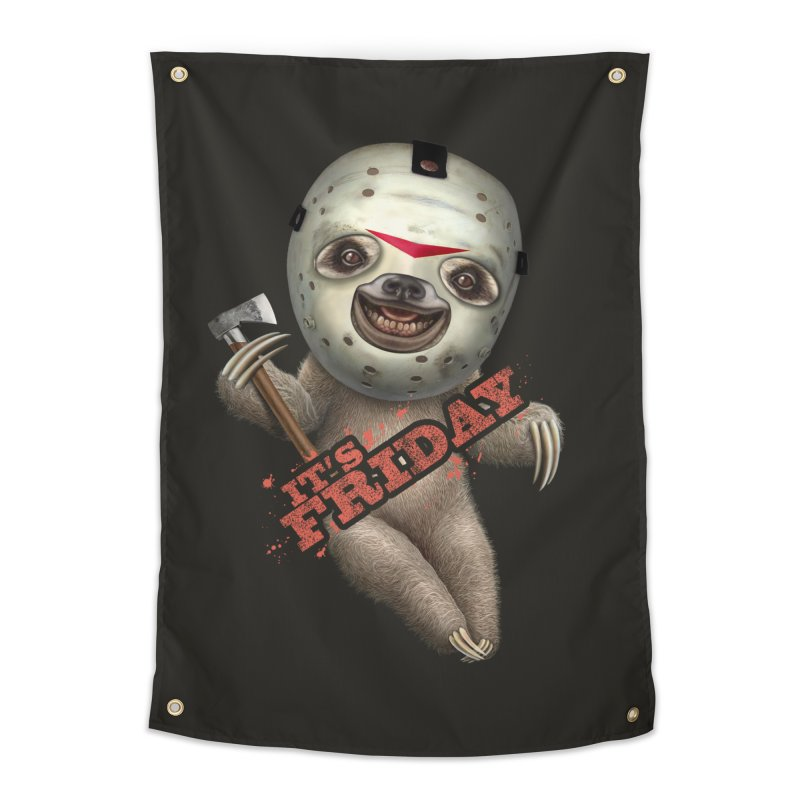 IT'S FRIDAY SLOTH Home Tapestry by gallerianarniaz's Artist Shop