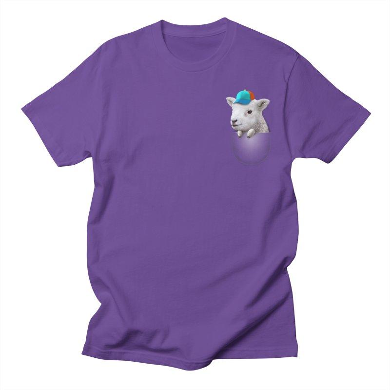 POCKET LAMB WITH CAP Men's T-shirt by gallerianarniaz's Artist Shop