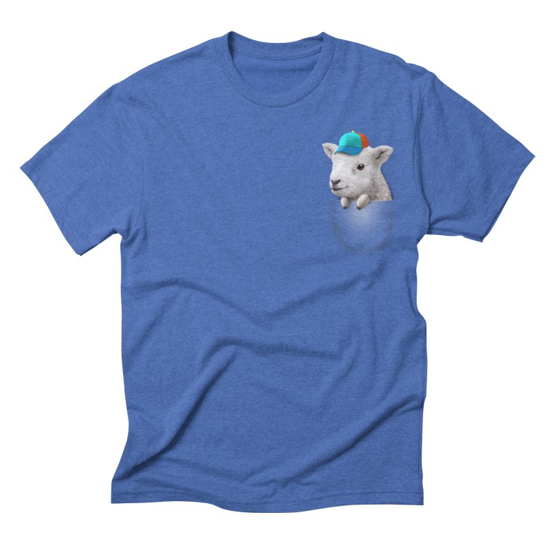POCKET LAMB WITH CAP Men's Triblend T-shirt by gallerianarniaz's Artist Shop