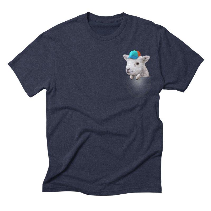 POCKET LAMB WITH CAP Men's Triblend T-shirt by gallerianarniaz's Artist Shop