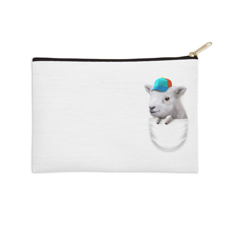 POCKET LAMB WITH CAP Accessories Zip Pouch by gallerianarniaz's Artist Shop
