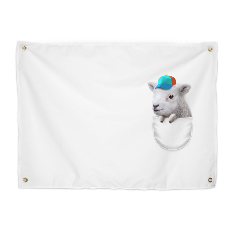 POCKET LAMB WITH CAP Home Tapestry by gallerianarniaz's Artist Shop