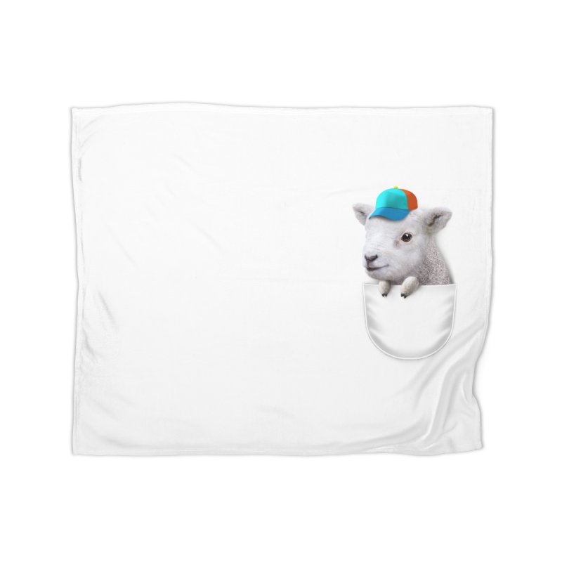 POCKET LAMB WITH CAP Home Blanket by gallerianarniaz's Artist Shop