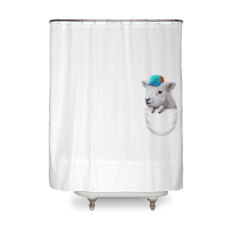 POCKET LAMB WITH CAP Home Shower Curtain by gallerianarniaz's Artist Shop