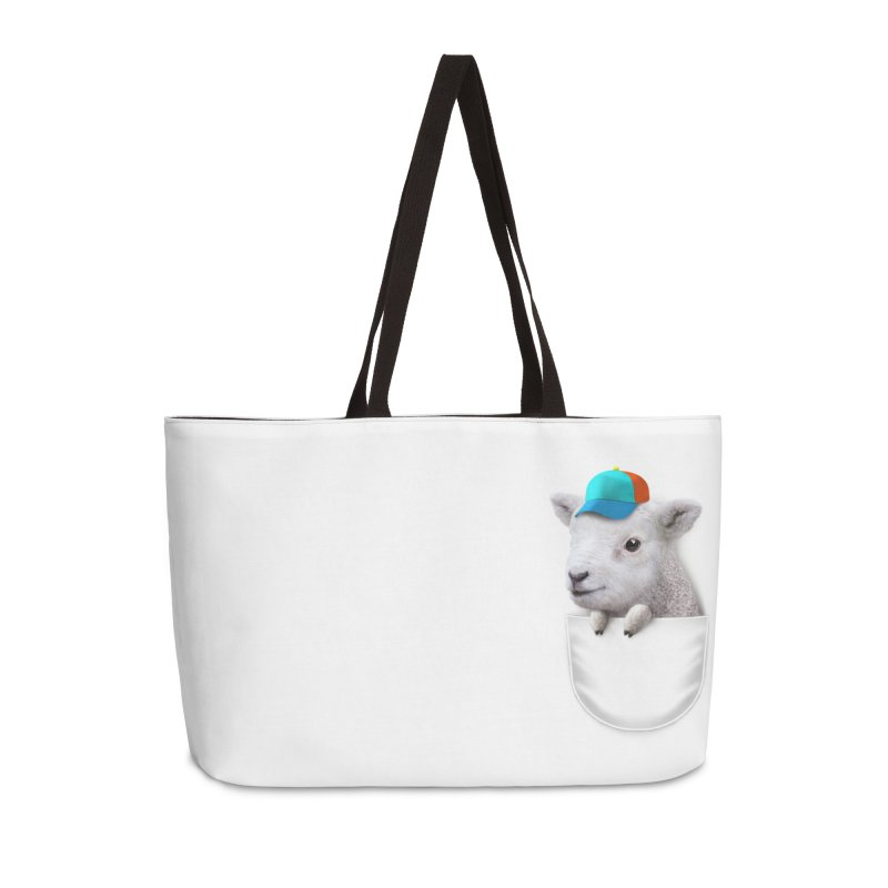 POCKET LAMB WITH CAP Accessories Bag by gallerianarniaz's Artist Shop