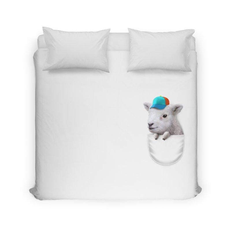 POCKET LAMB WITH CAP Home Duvet by gallerianarniaz's Artist Shop