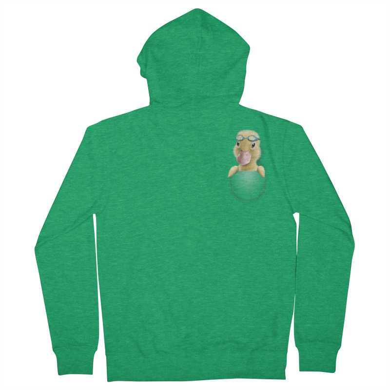 POCKET DUCK Men's Zip-Up Hoody by gallerianarniaz's Artist Shop