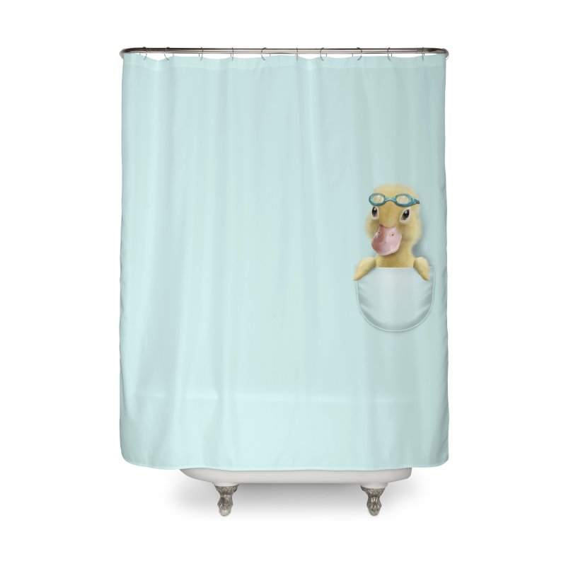 POCKET DUCK Home Shower Curtain by gallerianarniaz's Artist Shop