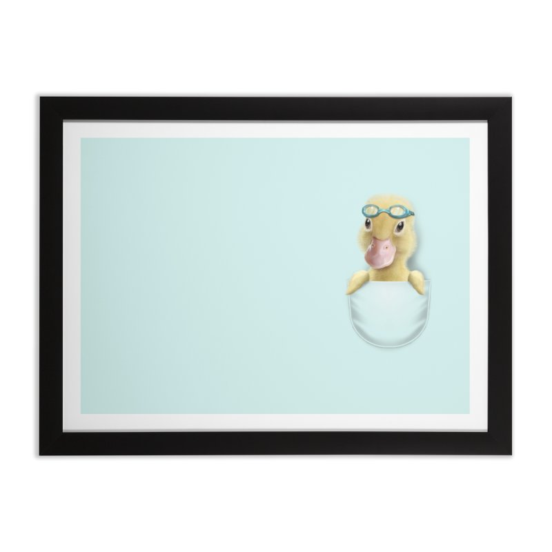 POCKET DUCK Home Framed Fine Art Print by gallerianarniaz's Artist Shop