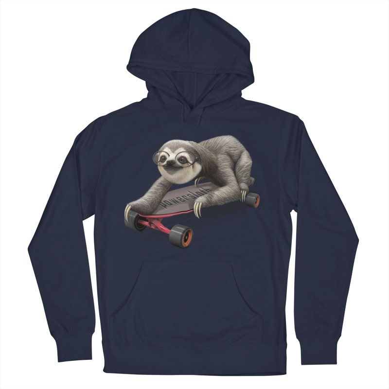 SLOTH ON SKATEBOARD Men's Pullover Hoody by gallerianarniaz's Artist Shop