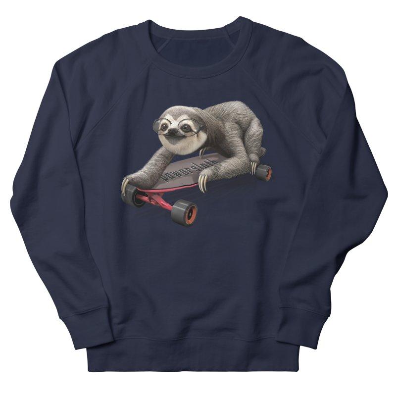SLOTH ON SKATEBOARD Men's Sweatshirt by gallerianarniaz's Artist Shop