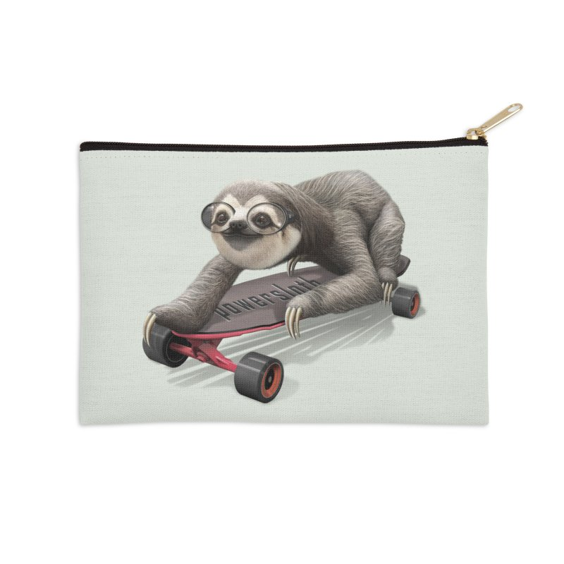 SLOTH ON SKATEBOARD Accessories Zip Pouch by gallerianarniaz's Artist Shop