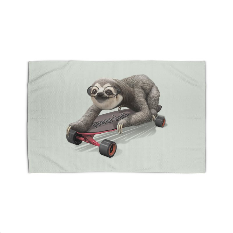 SLOTH ON SKATEBOARD Home Rug by gallerianarniaz's Artist Shop