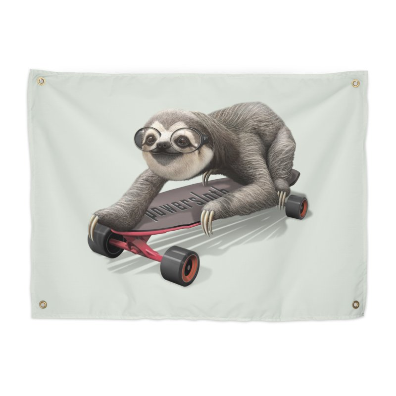 SLOTH ON SKATEBOARD Home Tapestry by gallerianarniaz's Artist Shop