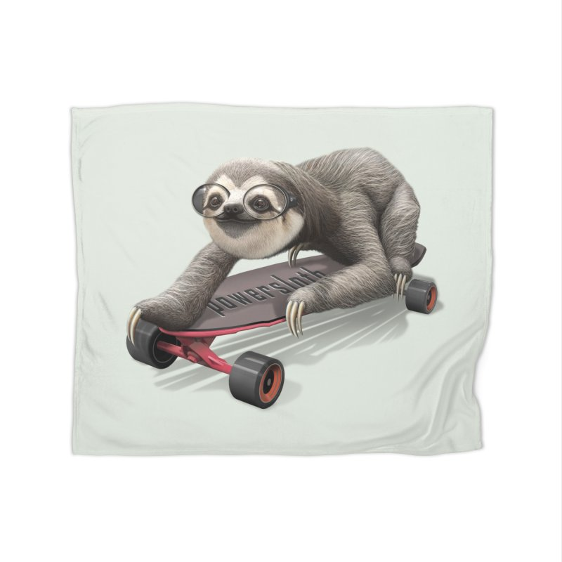 SLOTH ON SKATEBOARD Home Blanket by gallerianarniaz's Artist Shop