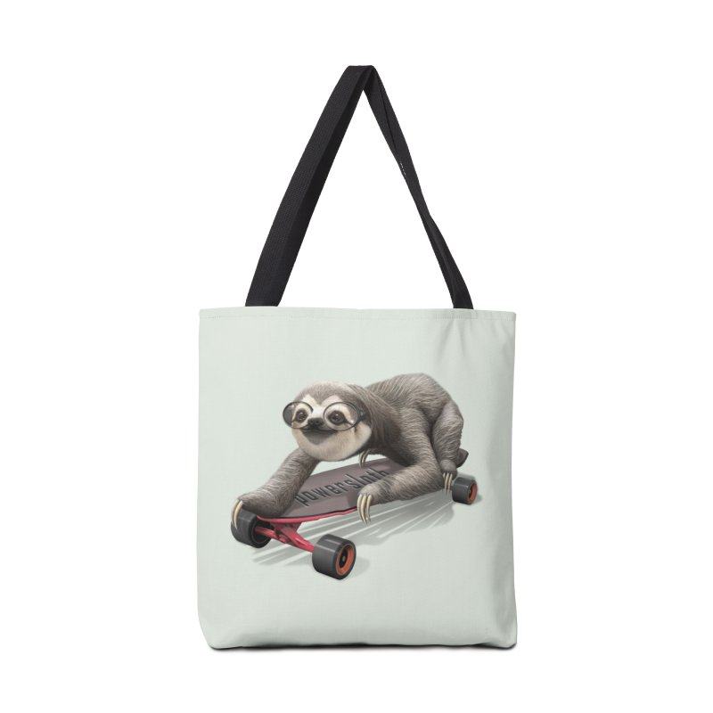 SLOTH ON SKATEBOARD Accessories Bag by gallerianarniaz's Artist Shop