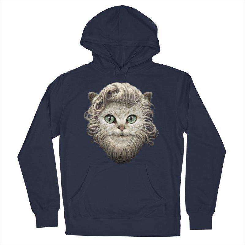 MOUSTACHE CAT Men's Pullover Hoody by gallerianarniaz's Artist Shop