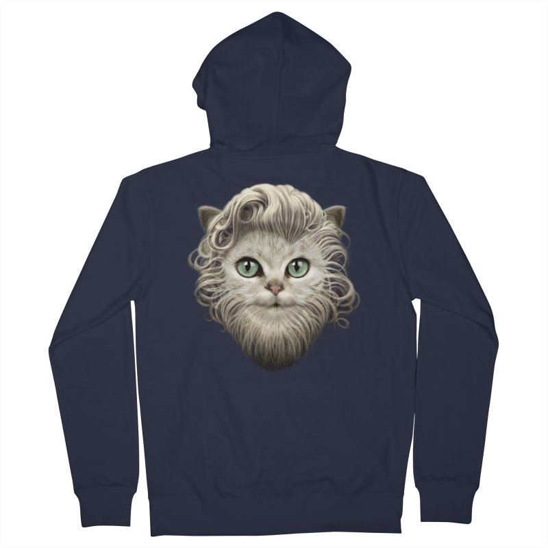 MOUSTACHE CAT Men's Zip-Up Hoody by gallerianarniaz's Artist Shop