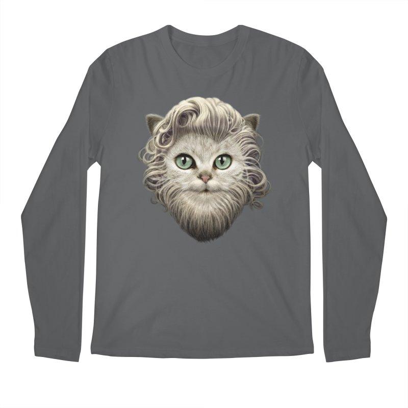 MOUSTACHE CAT Men's Longsleeve T-Shirt by gallerianarniaz's Artist Shop