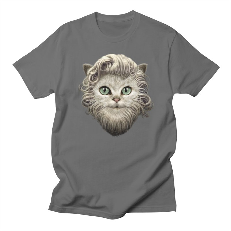 MOUSTACHE CAT Men's T-shirt by gallerianarniaz's Artist Shop