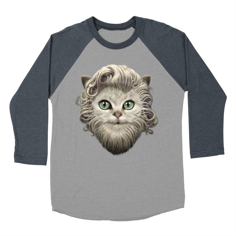 MOUSTACHE CAT Men's Baseball Triblend T-Shirt by gallerianarniaz's Artist Shop