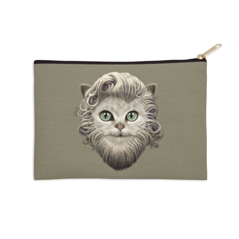 MOUSTACHE CAT Accessories Zip Pouch by gallerianarniaz's Artist Shop
