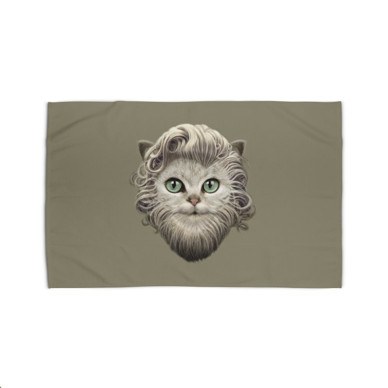 MOUSTACHE CAT Home Rug by gallerianarniaz's Artist Shop
