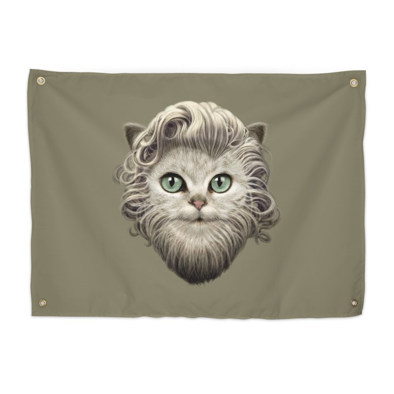 MOUSTACHE CAT Home Tapestry by gallerianarniaz's Artist Shop