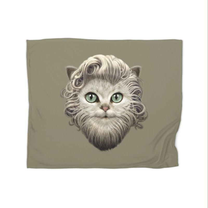 MOUSTACHE CAT Home Blanket by gallerianarniaz's Artist Shop