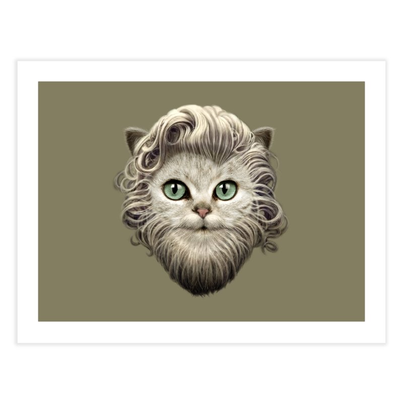 MOUSTACHE CAT   by gallerianarniaz's Artist Shop