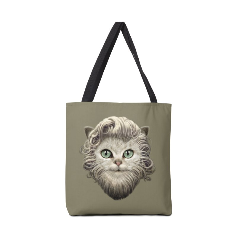 MOUSTACHE CAT Accessories Bag by gallerianarniaz's Artist Shop