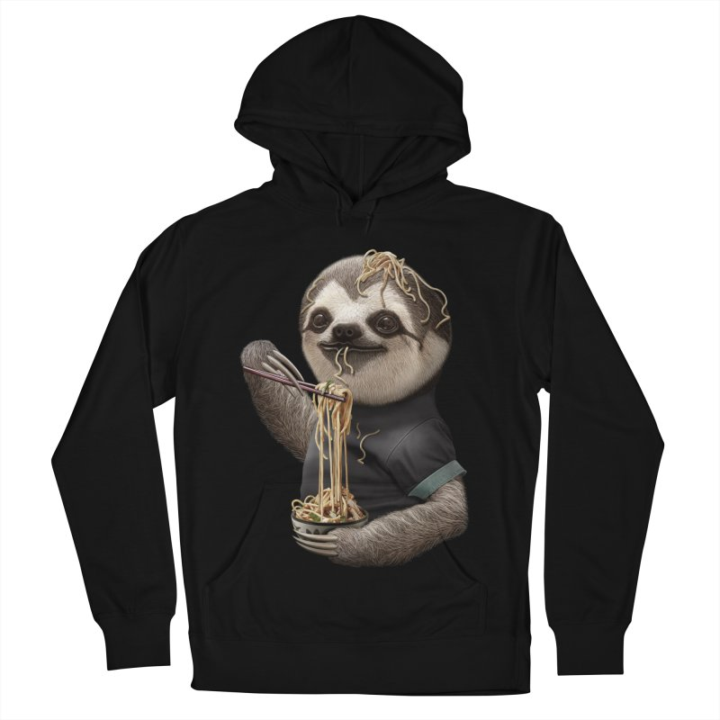 SLOTH EAT NOODLE Men's Pullover Hoody by gallerianarniaz's Artist Shop