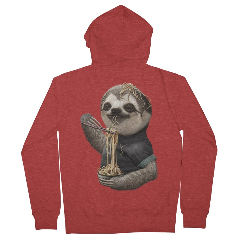 SLOTH EAT NOODLE Men's Zip-Up Hoody by gallerianarniaz's Artist Shop