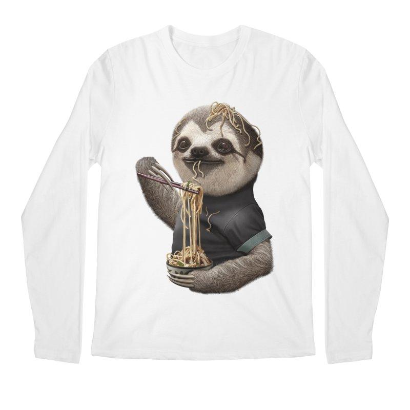 SLOTH EAT NOODLE Men's Longsleeve T-Shirt by gallerianarniaz's Artist Shop