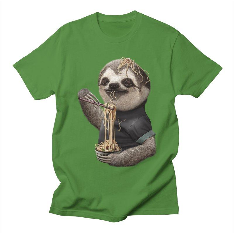 SLOTH EAT NOODLE Men's T-shirt by gallerianarniaz's Artist Shop