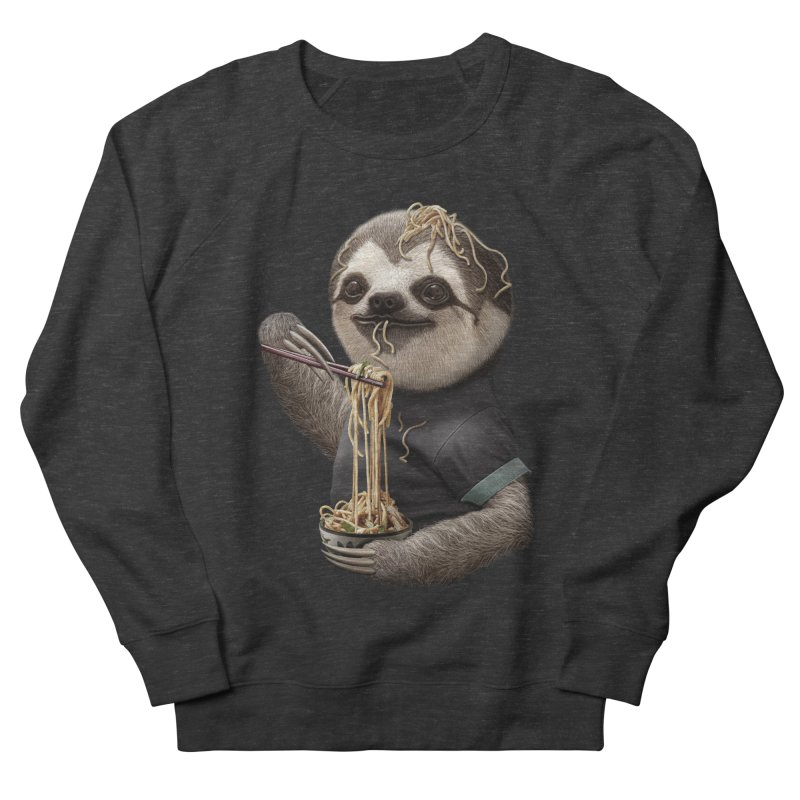 SLOTH EAT NOODLE Men's Sweatshirt by gallerianarniaz's Artist Shop