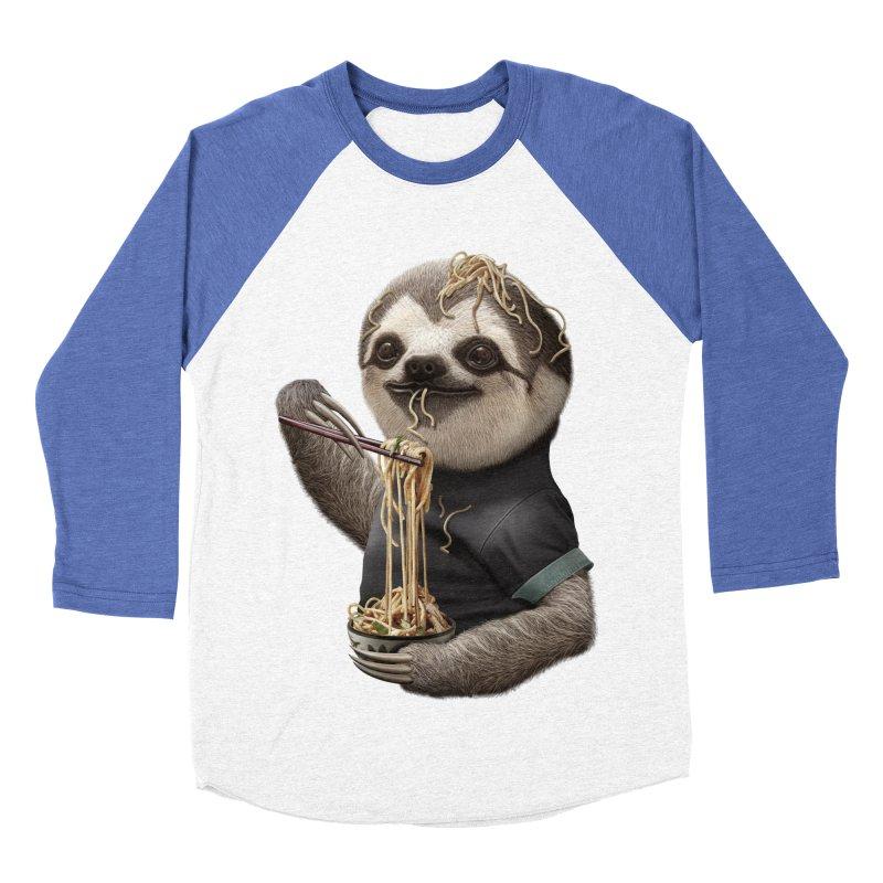 SLOTH EAT NOODLE Men's Baseball Triblend T-Shirt by gallerianarniaz's Artist Shop