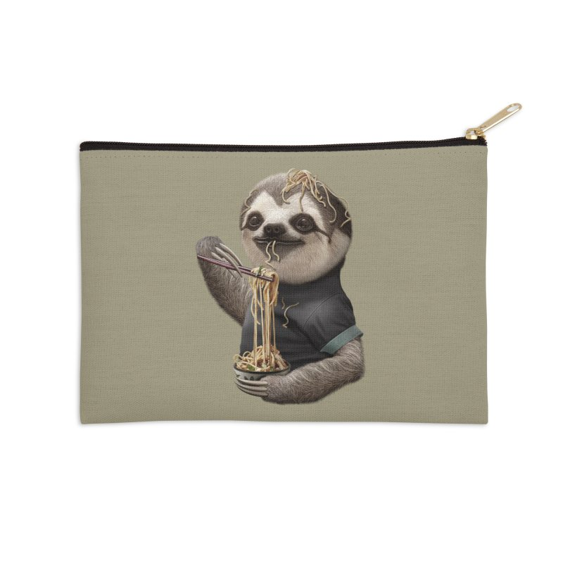 SLOTH EAT NOODLE Accessories Zip Pouch by gallerianarniaz's Artist Shop