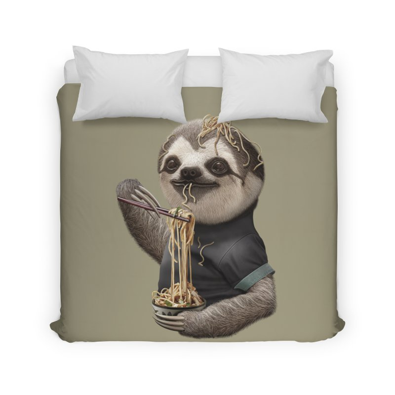 SLOTH EAT NOODLE Home Duvet by gallerianarniaz's Artist Shop