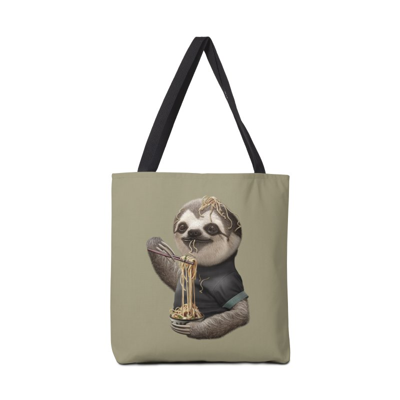 SLOTH EAT NOODLE Accessories Bag by gallerianarniaz's Artist Shop