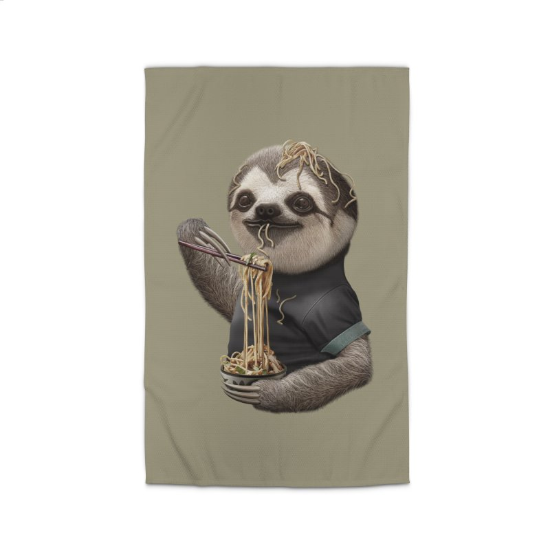 SLOTH EAT NOODLE Home Rug by gallerianarniaz's Artist Shop