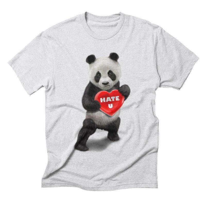 I LOVE U, I HATE YOU Men's Triblend T-Shirt by gallerianarniaz's Artist Shop