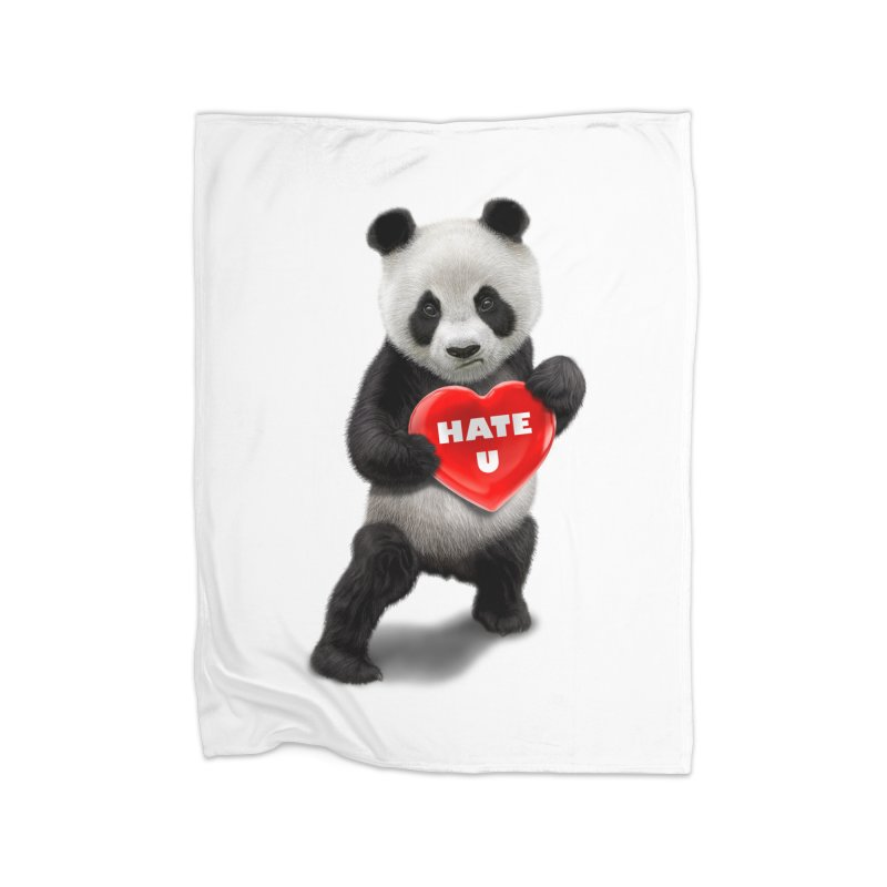 I LOVE U, I HATE YOU Home Blanket by gallerianarniaz's Artist Shop