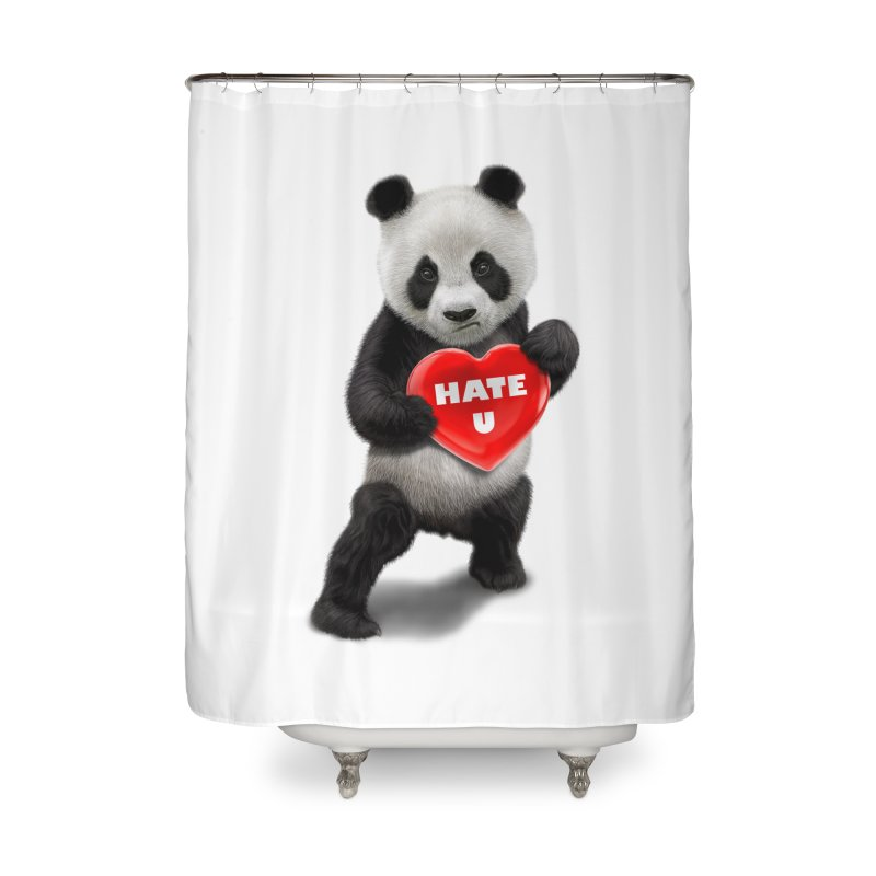 I LOVE U, I HATE YOU Home Shower Curtain by gallerianarniaz's Artist Shop