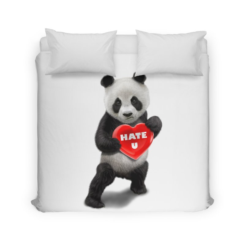 I LOVE U, I HATE YOU Home Duvet by gallerianarniaz's Artist Shop